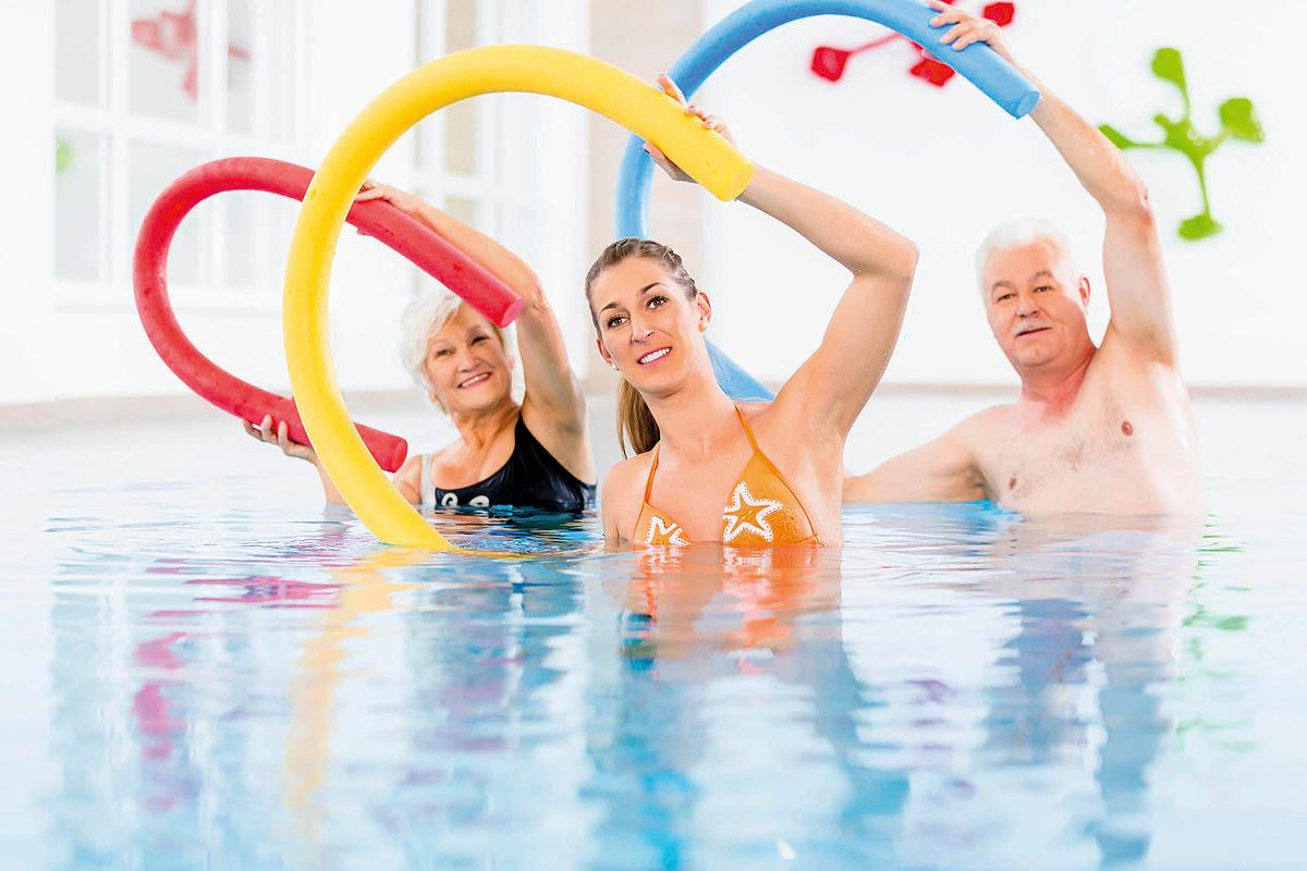 Wassergymnastik in der Krebsnachsorge