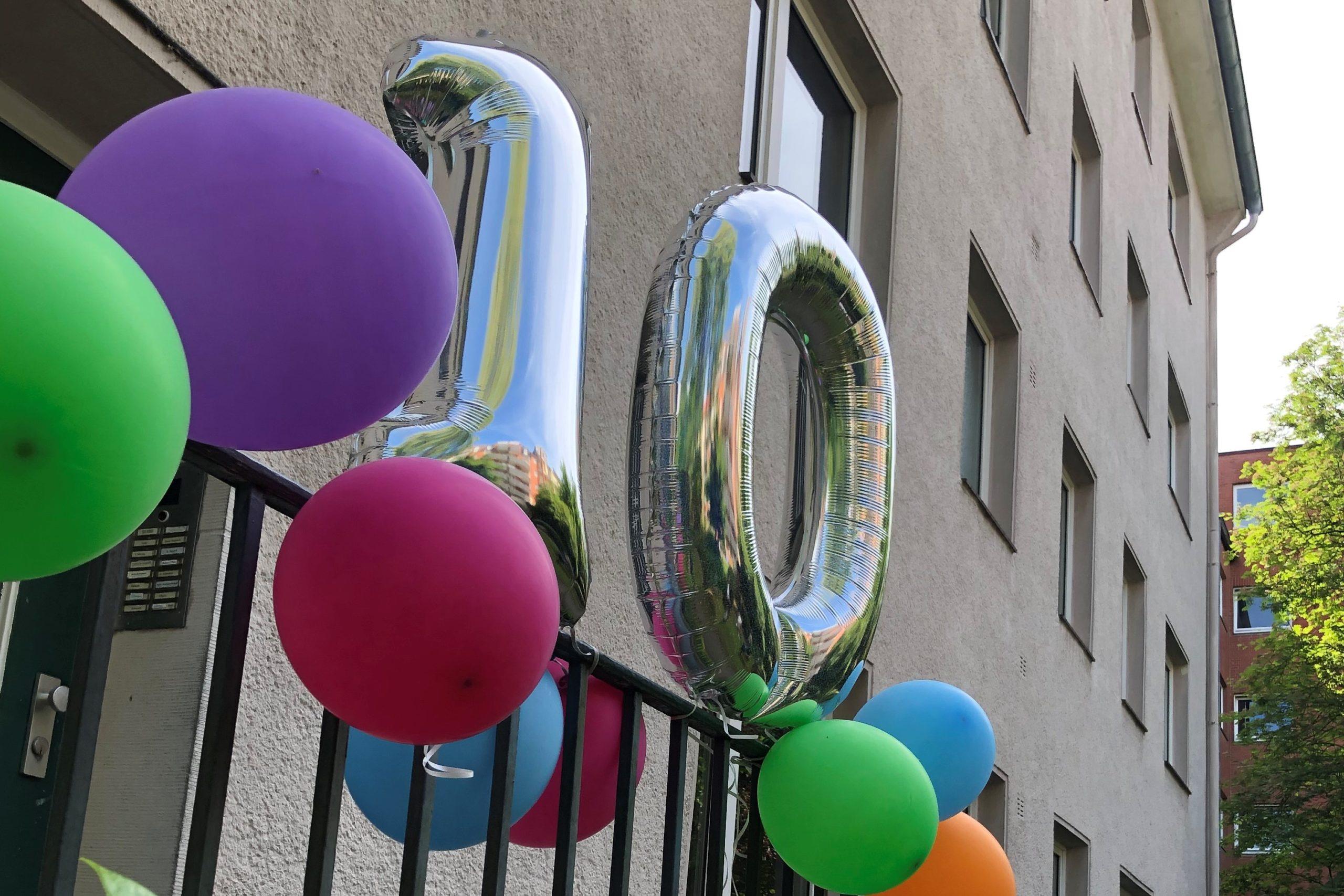 10 Als Luftballons