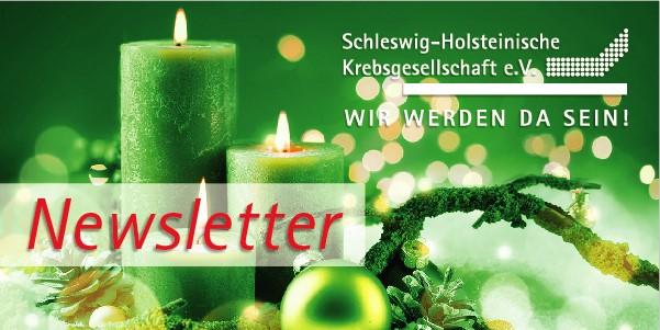weihnachtliches Kerzenmotiv mit Krebsgesellschafts-Logo